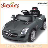 Most Popular Benz SLS Piano Lacquer Technology License RC Children Ride On Toy Car With MP3 Function
