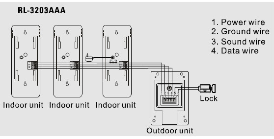 4 unit intercom wiring diagram