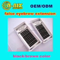 wholesale high quality false eyebrow/private label dark brown fake eyebrows