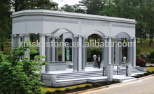 American Style Fabrication In China Good quality Sesame White Granite Mausoleum