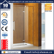 aluminum frame design6mm folding without handle shower screen for hotels