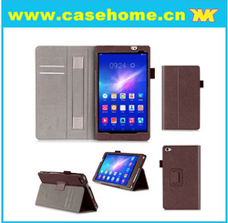8 inch Tablet Covers with Hand Holder PU Flip Leather Case for Huawei M2