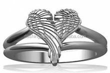 925 sterling silver Angel Heart Wings Ring