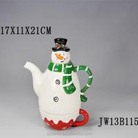 Ceramic snowman shape Coffee Mugs With Artistic Design For Promotion/unique snowman design ceramic coffee mug