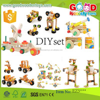 EN71 newest product toy vehicle wooden DIY toy OEM/ODM educational DIY toy for children