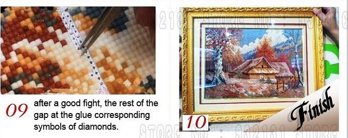 dy402 новые рукоделия алмазов diy живопись крест стежка алмаз горный хрусталь, вставленный живопись квадратные бурильные