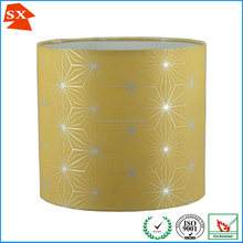 European interior globe silk shine yellow fashion light cover lampshade