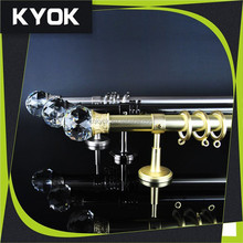 Fine workmanship high quality crystal fancy curtain pole home decorative