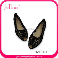 Beautity PVC sandals crystal injection jelly shoes plastic shoes with flocking