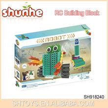 2015 Newest Product 2 IN 1 4 Channel Building Block Set 105 PCS RC Plastic Building Block Series Robot