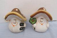 Stock Mushroom Design Coin Bank Saving Box for kids/pottery Coin Bank