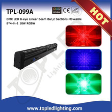 Professional 8*4-in-1 10W RGBW 2 Sections Moveable DMX LED 8-eye Linear Beam Bar amazing effect light 120w led light bar