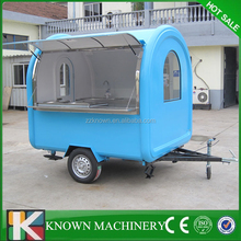 With two big wheels 2M width KN-220W mobile food truck for sale,fast food truck