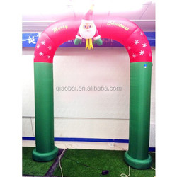 HOT sales christmas inflatable arch with Santa Claus for Christmas decoration