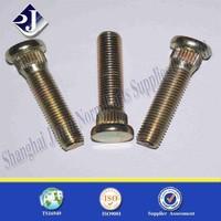 Hub bolt with zinc