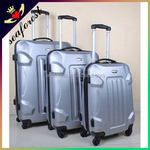 3 piece yellow ABS travel luggage sets/eminent luggage suitcase