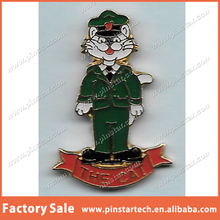 Custom Wholesale THE CAT, ROYAL ULSTER CONSTABULAR Metal Lapel Pin Machine Badge