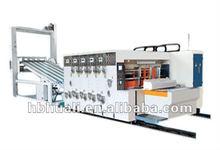 carton box printing slotting with die cutting machine / automatic carton making machine