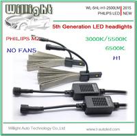 2015 new car bulb 5th generation High power 20W auto 12v car h1 h3 led headlight