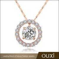 OUXI2014 top design unique moon love cheap price couple necklace