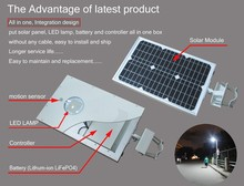 solar led street light for Jogging and Bike Path Lighting