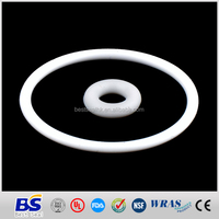 custom soft white silicone rubber o-ring for wholesale at cheap price
