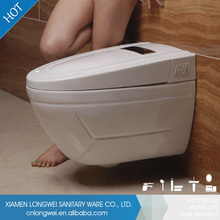 Inodoro sifónico Flushing sistema de mango de aleación de zinc de porcelana sanitaria inteligente
