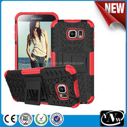 Phone Accessory Robot Kickstand Cell Phone Protective Case for Samsung S6 robot cover hard case for S6 edge
