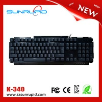 Cheapest professional wired metal cover mechanical keyboard from factory in market