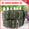 Manufacturer direct wholesale pet dog collar in Military green canvas