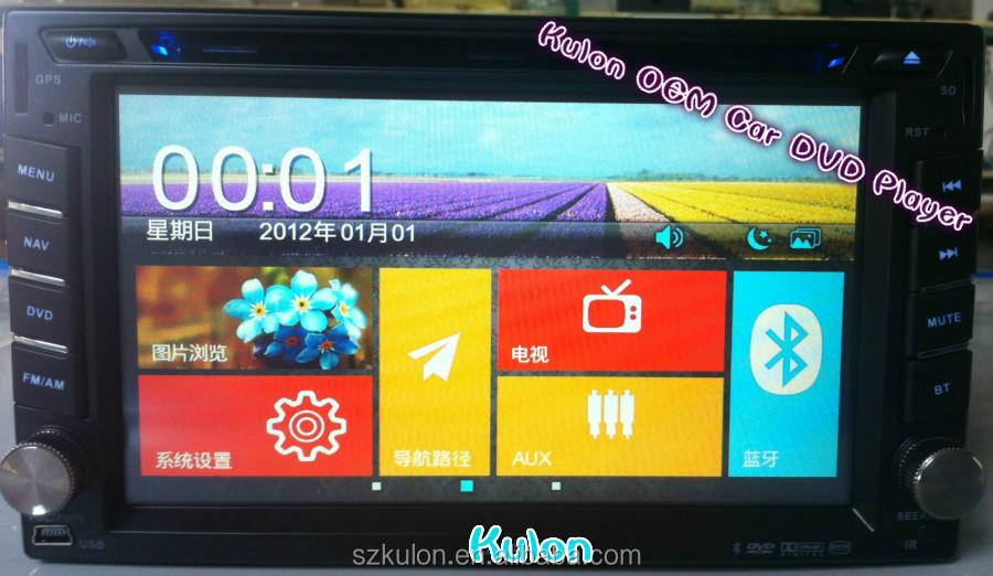 new windows 8 UI 6.2 inch universal double din car dvd