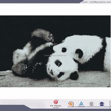 Cute pandas glass mosaic tiles mural