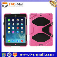 Luxury Silicone PC Military Duty Kicktand Case For iPad Air