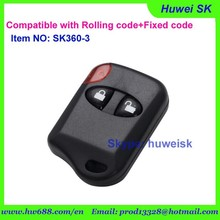 mini cat eyes 2buttons self-copy remote key can be compatible with hopping code and fixed code with adjustable frequency remote