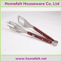 High quality USA market SS304 3-1 BBQ tools with POM handle packed with back card