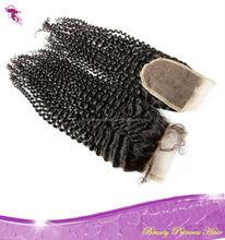 PrincessBeauty Hair 6A Grade Peruvian Hair Kinky Curly Closure/4x4/ silk top closure pieces