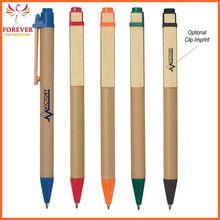 Wholesale Eco-inspired Ballpoint Custom Design Papper Barrel Ball Pen Supplier