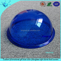 Custom promotional gift blue color plexiglass light dome food covers