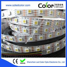 dc5v top smd5050 apa102 ic control addressable white led strip