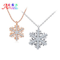 Rose gold/White Gold Crystal Necklace Designs Girls Rhinestone Pendant Jewelry Charm For Women Alloy Best Friend Necklaces