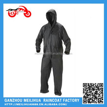 Black Color Polyester Material Top Quality Waterproof Motorcycle Raincoat