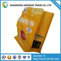 fruit flat bottom bags stand up with zipper easy tears packing bags