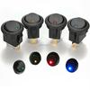 Brand New 5Pcs Blue 12V LED Dot Light Car Boat Round Rocker ON/OFF SPST Switch 3 Pins with LED