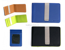 promotional leather business wallet card holder case