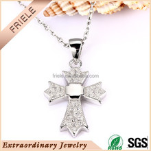 2015 new products cross pendant wholesale large sterling silver cross pendant