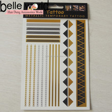 In Stock Different styles Jewelry Inspired Metallic Temporary Tattoos Stickers