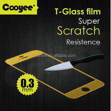 9H hardness color tempered glass screen protector for iphone 6, cell phone screen protector