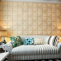 natural plant fiber interior wall covering with 3d wall panel