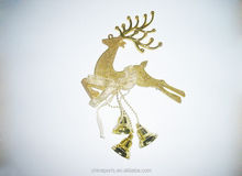 new fashionable golden Chrismtas deer ornaments with small bell