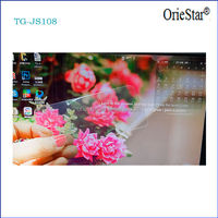 Tempered Glass high transmittance Silver Diamond AB double sides self adhesivetouch touch screen protector film for mobile phone